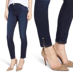 Frame Le High Slit Hem Skinny Jeans (Wythe)